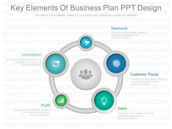 Key Elements Of Business Plan Ppt Design - PowerPoint Templates - business plan elements