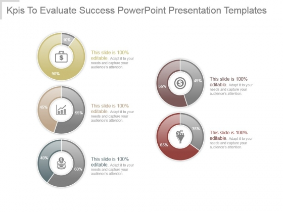 Kpis To Evaluate Success Powerpoint Presentation Templates