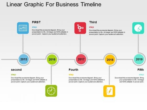 Linear Graphic For Business Timeline PowerPoint Templates