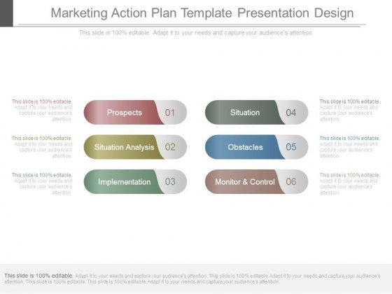 Marketing Action Plan Template Presentation Design - PowerPoint