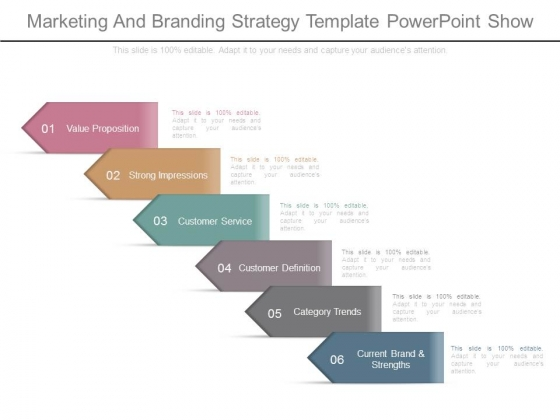 Marketing And Branding Strategy Template Powerpoint Show - branding strategy