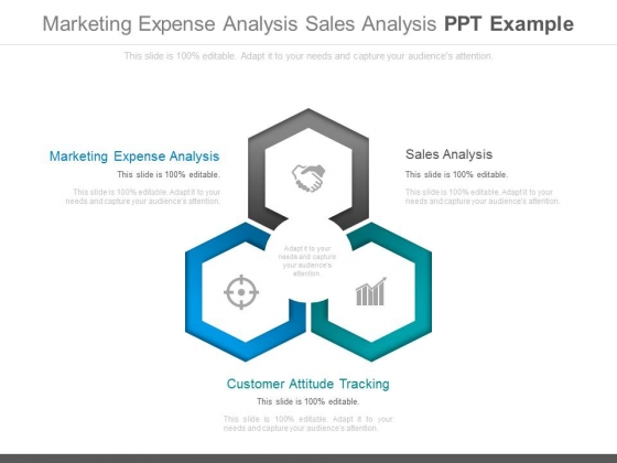 Marketing Expense Analysis Sales Analysis Ppt Example - PowerPoint