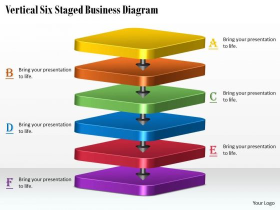Marketing Concepts Vertical Six Staged Business Diagram Strategic