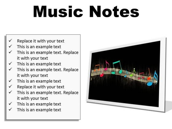 Music Notes Abstract PowerPoint Presentation Slides F - PowerPoint