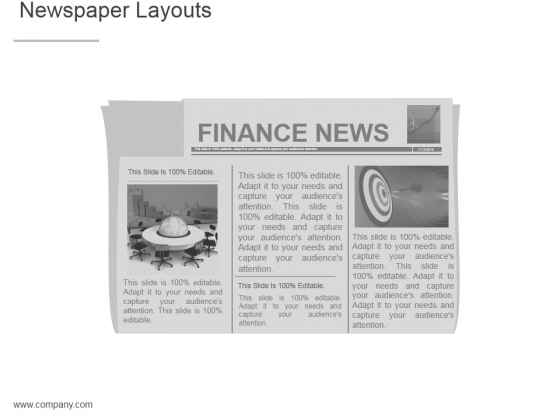 Newspaper Layouts Ppt PowerPoint Presentation Microsoft - PowerPoint