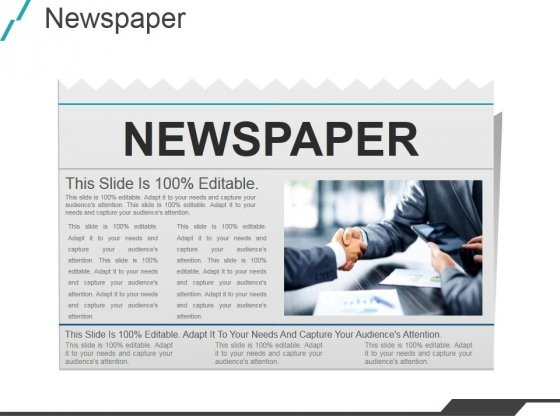 Newspaper Ppt PowerPoint Presentation Template - PowerPoint Templates