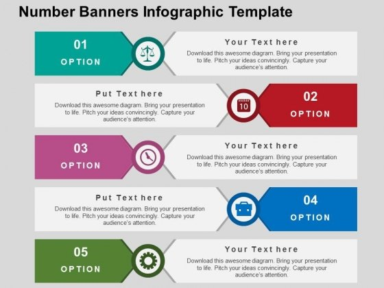 Number Banners Infographic Template PowerPoint Templates