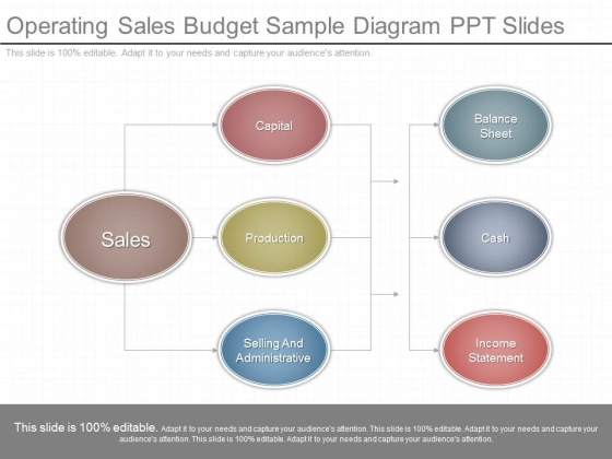 Operating Sales Budget Sample Diagram Ppt Slides - PowerPoint Templates