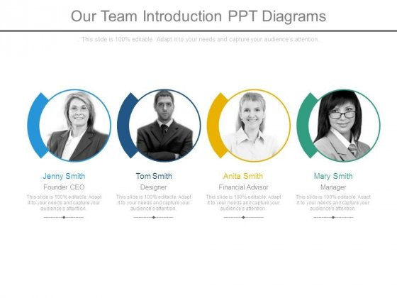 Our Team Introduction Ppt Diagrams - PowerPoint Templates