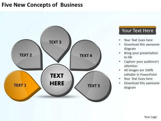 Of Business PowerPoint Templates Free Download Ppt Cycle Spoke