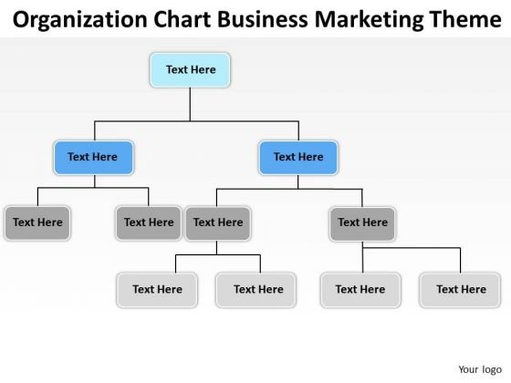 Organization Chart Business Marketing Theme Ppt Plans PowerPoint - business organizational chart