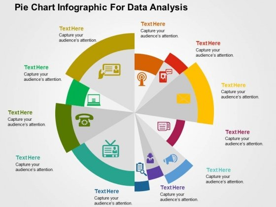 Pie Chart Infographic For Data Analysis PowerPoint Templates - powerpoint infographic template