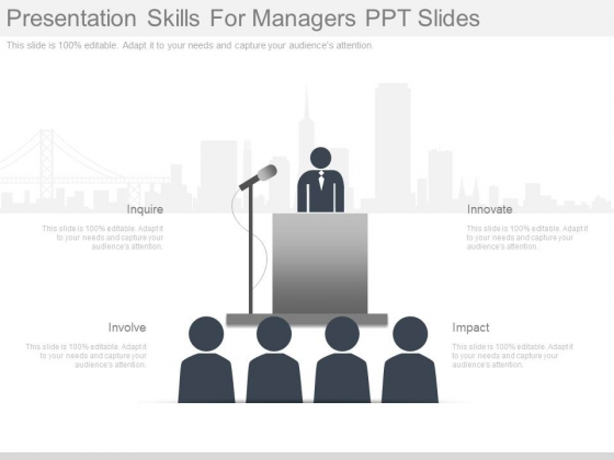 Presentation Skills For Managers Ppt Slides - PowerPoint Templates