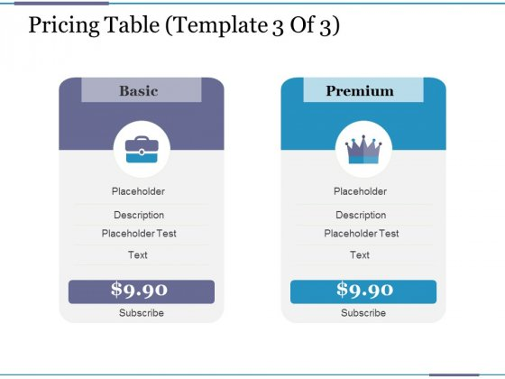 Pricing Table Template 3 Ppt PowerPoint Presentation Model