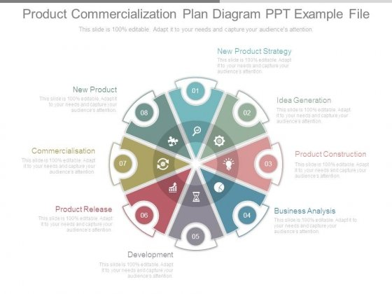Product Commercialization Plan Diagram Ppt Example File - PowerPoint