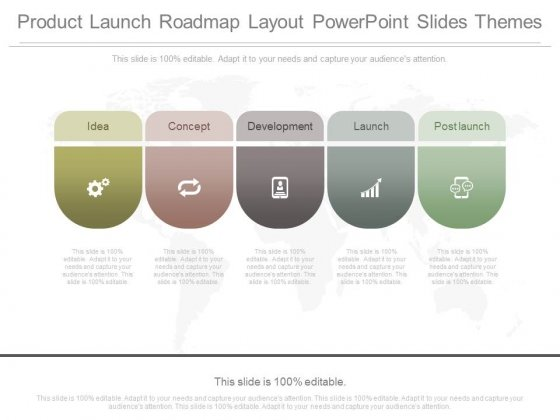Product Launch Roadmap Layout Powerpoint Slides Themes - PowerPoint