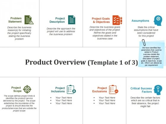 Product Overview Template 1 Ppt PowerPoint Presentation Pictures