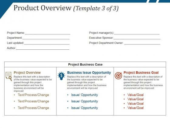 Product Overview Template 3 Ppt PowerPoint Presentation Ideas Design