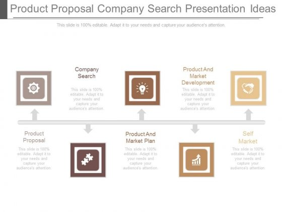 Product Proposal Company Search Presentation Ideas - PowerPoint