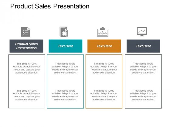 Product Sales Presentation Ppt PowerPoint Presentation Professional