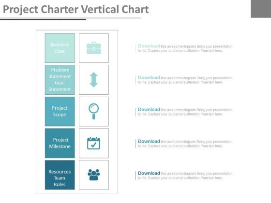 Project Charter Vertical Chart Ppt Slides - PowerPoint Templates - project milestone template ppt