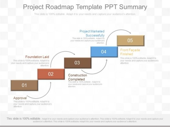 Project Roadmap Template Ppt Summary - PowerPoint Templates