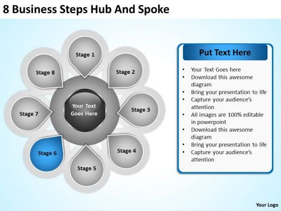 PowerPoint Graphics Business Templates Free Download Steps Hub And - free powerpoint graphics templates
