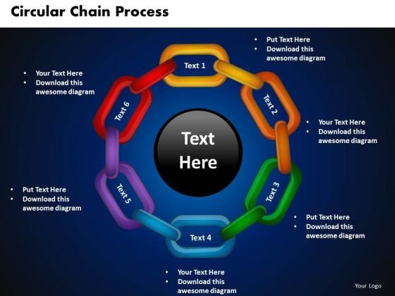 PowerPoint Presentation Circular Chain Process Download Ppt Slide - power point slide designs