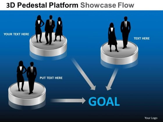 PowerPoint Process Sales Pedestal Platform Showcase Ppt Presentation