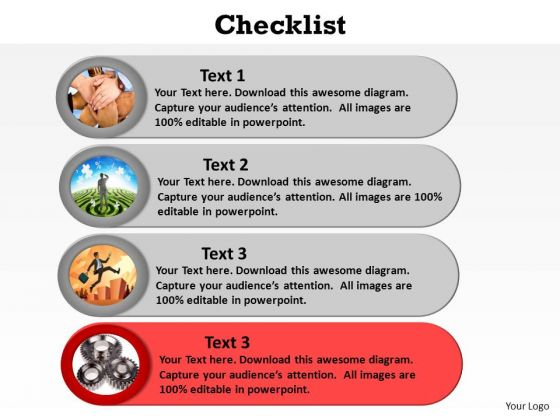 Checklist PowerPoint templates, Slides and Graphics - editable checklist template