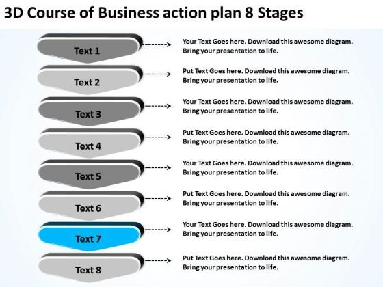 PowerPoint Templates Action Plan 8 Stages Free Business Plans