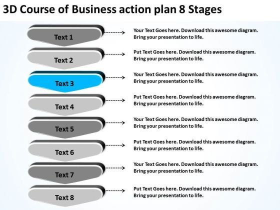 PowerPoint Templates Action Plan 8 Stages Free Examples Of Business - action plan template for business