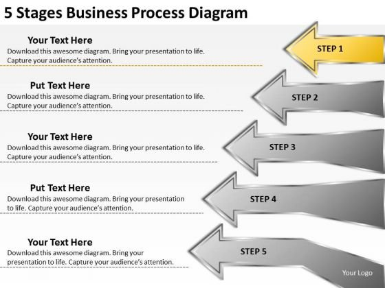 PowerPoint Templates Download Process Diagram Food Truck Business