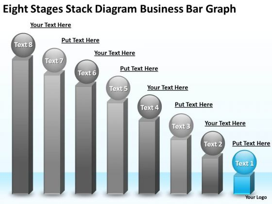 PowerPoint Templates Free Download Bar Graph Business Plan - bar graph templates free