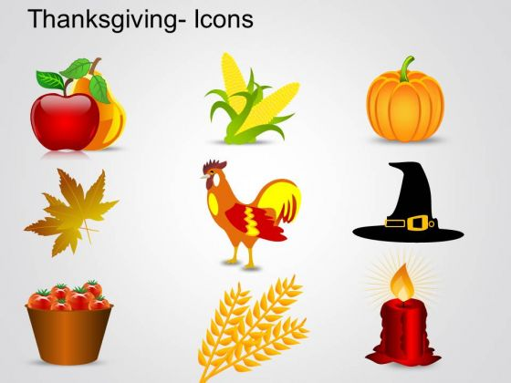 PowerPoint Templates Icons Thanksgiving Ppt Slide Designs