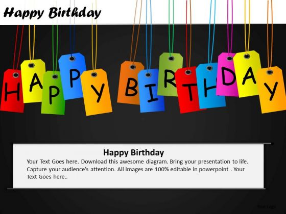 PowerPoint Templates Sales Tags Happy Birthday Ppt Slides