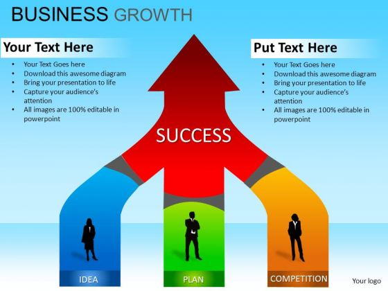 PowerPoint Theme Business Strategy Business Growth Ppt Themes