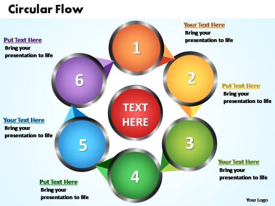 PowerPoint Themes Circular Flow Chart Ppt Templates - PowerPoint