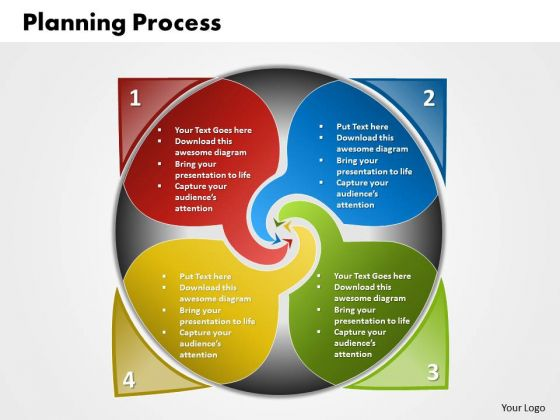 Ppt 4 Steps In Planning Process Business Diagram PowerPoint Free