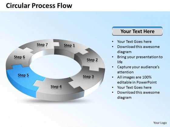 Ppt 7 Create PowerPoint Macro Circular Process Flow Diagram Free