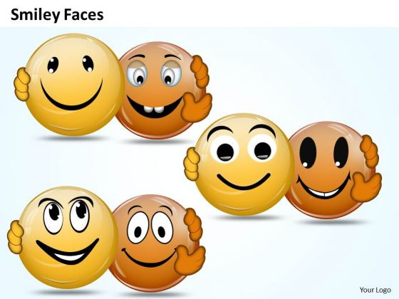 Ppt Animated Smiley Faces With Different Emotion Process PowerPoint