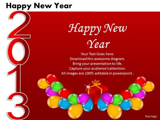Ppt Cards And Dices Happy New Year Business Plan Business
