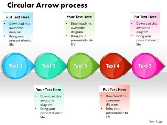 Ppt Circle Arrow Free Business Presentation Process Flow Chart