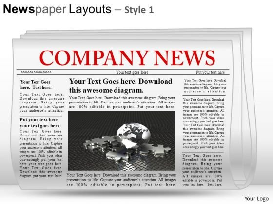 Press Newspaper Layouts PowerPoint Slides And Ppt Diagram Templates