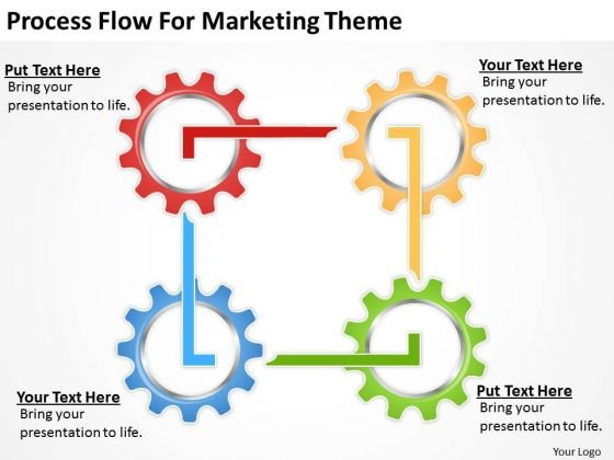Process Flow For Marketing Theme Ppt Professional Business Plan - professional business plan