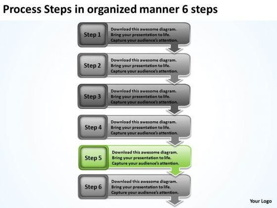 Process Steps In Organized Manner 6 Sample Business Proposal Outline