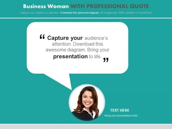 Quote For Employee Of The Month PowerPoint Slides - PowerPoint Templates - quote on presentation