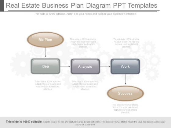 Real Estate Business Plan Diagram Ppt Templates - PowerPoint Templates