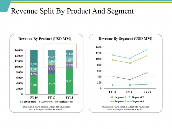 Revenue Split By Product And Segment Ppt PowerPoint Presentation