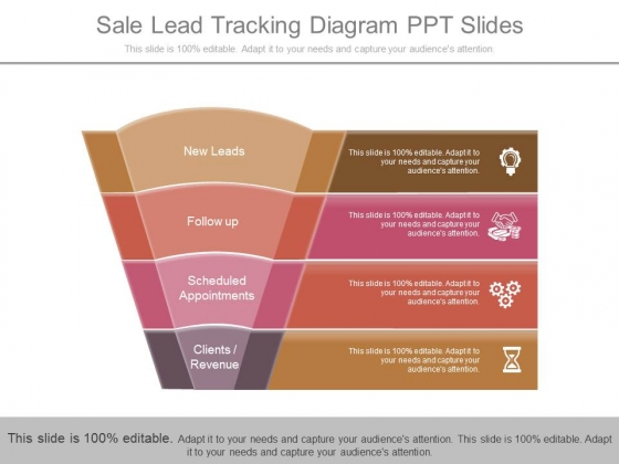 Sale Lead Tracking Diagram Ppt Slides - PowerPoint Templates
